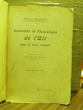 Anatomie et PHYSIOLOGIE de l' oeil-Joseph ovio, trad.c. Marie Auguste Dejean-LIB. Alcan (y10)