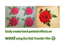 More details for clear dry rub off transfer paper - create rub on decals - inkjet - laser - a4