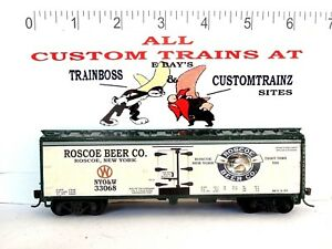 HO CUSTOM LETTERED ROSCOE BREWING BEER (NYO&W) COLLECTIBLE REEFER LOT C