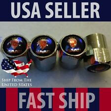SAAB Blue Logo Car Valve Stem Caps Covers Chromed Roundel Wheel Tire Emblem USA