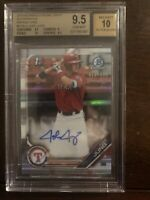 BGS 9.5/10 JOSH JUNG AUTO 2019 Bowman Chrome Draft REFRACTOR #/499 RC GEM MINT