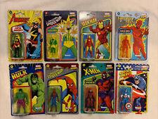 "Marvel Legends Retro Kenner Hasbro Action Figures 3.75"" Lot of 8 NEW sealed"