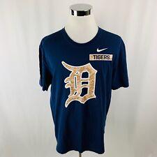 Nike MLB Detroit Tigers Camo Military Service Blue T-Shirt 2XL XXL