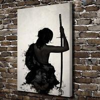 Japanese Geisha Samurai Poster Graffiti Canvas Prints Painting Wall Art Decor