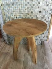 New Wood Round Side End Decor Table  Sofa Chairside Wooden Accent Furniture 2ava