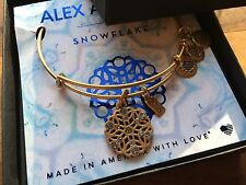 NWT BOX CARD ALEX and ANI 2016 Special Edition HOLIDAY SNOWFLAKE Bangle BRACELET