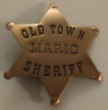 Collectible Old Town Mario Sheriff Brooch Pin