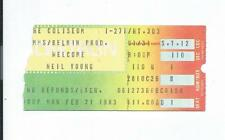 Neil Young TICKET STUB Feb 21, 1983 Cleveland, Ohio SOLO TRANS TOUR Blossom