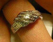 Diamond Ring Size 7  30 diamonds(Rnd & Bag.) .30tcw  MSRP$654