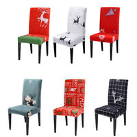 Stretch Dining Chair Covers Slipcovers Christmas Elk Home Decor Seat Covers New