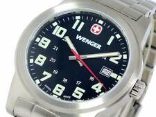 WENGER Mens Watch Field Classics 72806 Black Quartz Round Waterproof Stainless