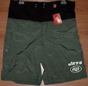 New York Jets Bathing Swim Suit Large Trunks Shorts Cargo Pocket NFL