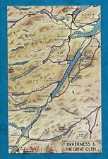 C1950s BLANK BACKED MAP PC INVERNESS & THE GREAT GLEN