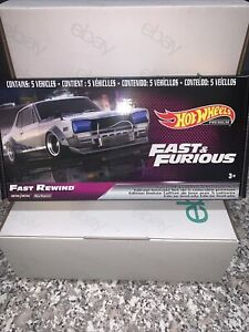 Hot Wheels Fast and Furious Fast Rewind Real Riders Set of 5 metal/metal !!!!!