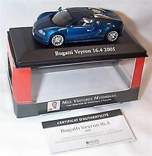 Bugatti Veyron 16.4 2005 2 tone Blue 1-43scale Cars Collection New in case boxed