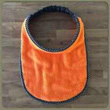 Newfoundland Big Dog drool slobber bib large breed PLAIN ORANGE Towelling