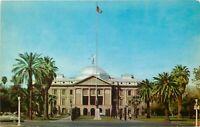 Chrome Postcard AZ I394 Phoenix Arizona State Capitol Street View Curteichcolor