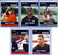 "ALBERT PUJOLS BLACK EDITION JUST MINORS ""5"" CARD ROOKIE LOT! 600 HOME RUNS!"