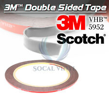 Genuine 3M VHB #5952 Double-Sided Mounting Foam Tape Automotive Car 2mm x 35FT