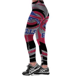 Women Legging Buffalo Bills 3D Digital Print High Waist Wide Belt Yoga Pants