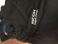 Ricoh imagine change black polo golf short sleeve  shirt adult  men's Medium NEW