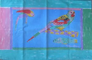 Vintage 1980's Ken Done - Parrots and Fish - 2 Matching Pillow Cases - Sheridan