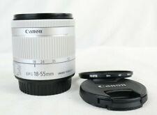 White Canon EF-S 18-55mm F4-5.6 IS STM Lens