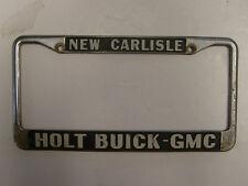Holt Buick GMC New Carlisle Dealership License Plate Frame Metal Embossed Holder