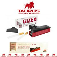 GIZEH New SILVER TIP BOY PLUS TUBE Tobacco Filling Machine BULL BRAND Smoking UK