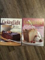 LOT 2 BOOKS COOKING LIGHT ANNUAL RECIPES 2001 /2002 Hardcover Leisure Arts