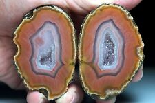 A Pair Rough (Unpolished) Agate / Achat Nodule Specimen AGBOX15-04 Xuanhua China