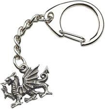 Heraldic Dragon Pewter Keyring