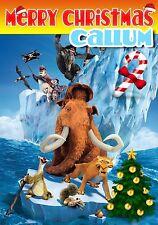 Era GLACIALE personalizzata cartolina di Natale! spedizione GRATUITA 1st CLASSE! chrlas 16