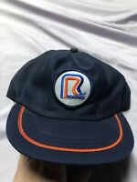 Vintage 1980's Roadway Patch Snapback Trucker Cap Hat Mesh Foam OTR Trucking USA