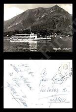 """Lago di Como - motonave """"A. volta"""" - 1960 - francob. asportato - formato grande"""