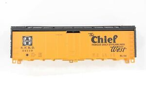 "HO Athearn Santa Fe 40ft Steel Ice-Hatch Refrigerator Car ""The Chief"" New Kit"