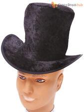 Childs Black Velvet Top Hat Girl Boy Victorian Fancy Dress Old England Accessory