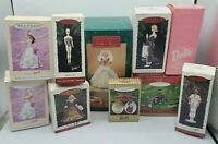Lot of 10 Barbie Hallmark Keepsake Christmas Holiday Ornaments - Original Boxes