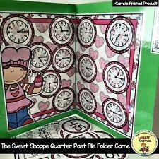 The Sweet Shoppe Quarter Past the Hour File Folder Game Kindergarten New!