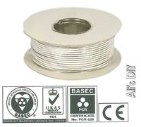 White 2 Core 0.5MM Door Bell Wire BH01469 Doorbell Custom Length Available