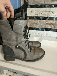Dromedaris Grey Kara Boots Size 38/7.5 combat