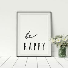 Be Happy Positive Poster Artwork