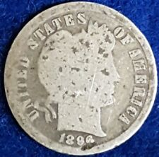 1896 Silver Barber Dime  ID #54-28
