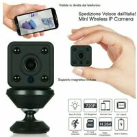 TELECAMERA SPIA MICROCAMERA INFRAROSSI FULL HD WIFI IP MICRO NOTTURNA MINI CCTV
