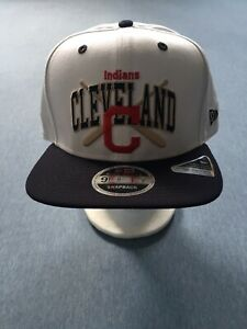 New Era CLEVELAND INDIANS Retro Bats 9FIFTY Snapback HIGH CROWN STEEP FRONT Hat