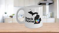Michigan Back Home Mug White Tie Dye Coffee Cup Pure Great Lakes State Uni of MI