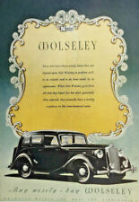 1948 COLOUR PRINT ADVERT FULL PAGE WOLSELEY MOTOR CARS