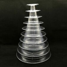 10 Tier Tower Macaroon Display Rack Round Cake Stand Tray Cake Decorating Tools