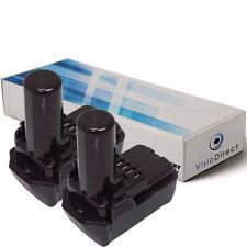 Lot de 2 batteries 10.8V 1500mAh pour Hitachi WH 10DCL - Société Française -