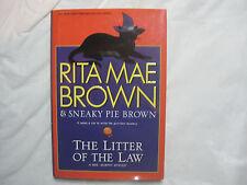 Litter of the Law by Rita Mae Brown~Mrs. Murphy Mystery~HC w/dj~1st Ed/pr~LBDEX